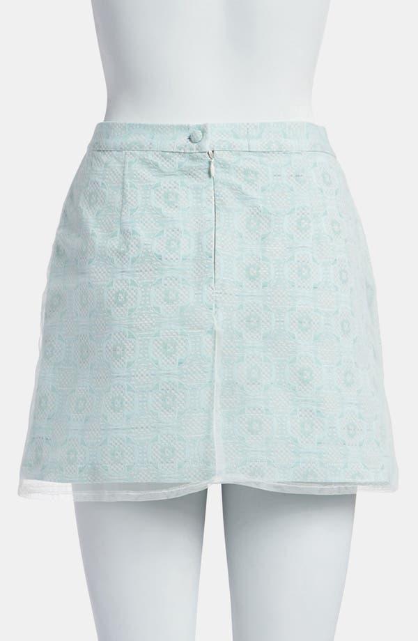 Alternate Image 3  - Topshop Mesh Overlay Jacquard Miniskirt