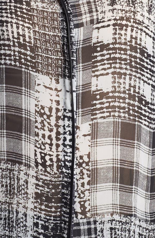 Alternate Image 3  - Vince Camuto Faux Leather Trim Blouse (Plus Size)