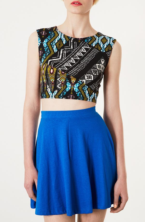 Alternate Image 1 Selected - Topshop Aztec Crop Tee