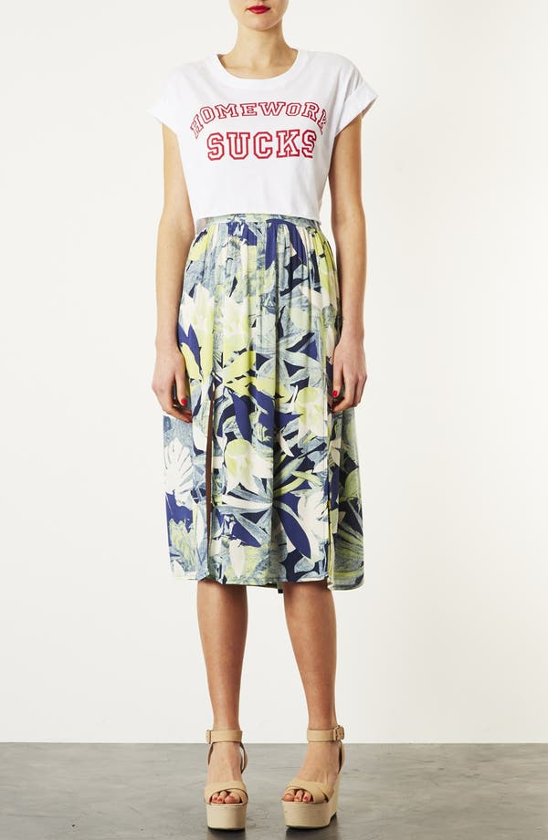 Alternate Image 4  - Topshop 'Crayon Forest' Midi Skirt