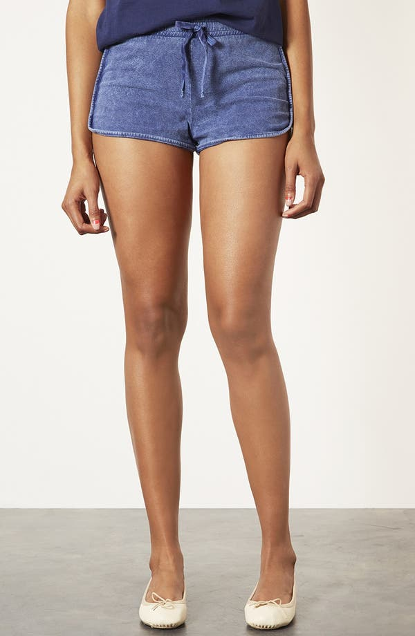 Main Image - Topshop Acid Wash Shorts