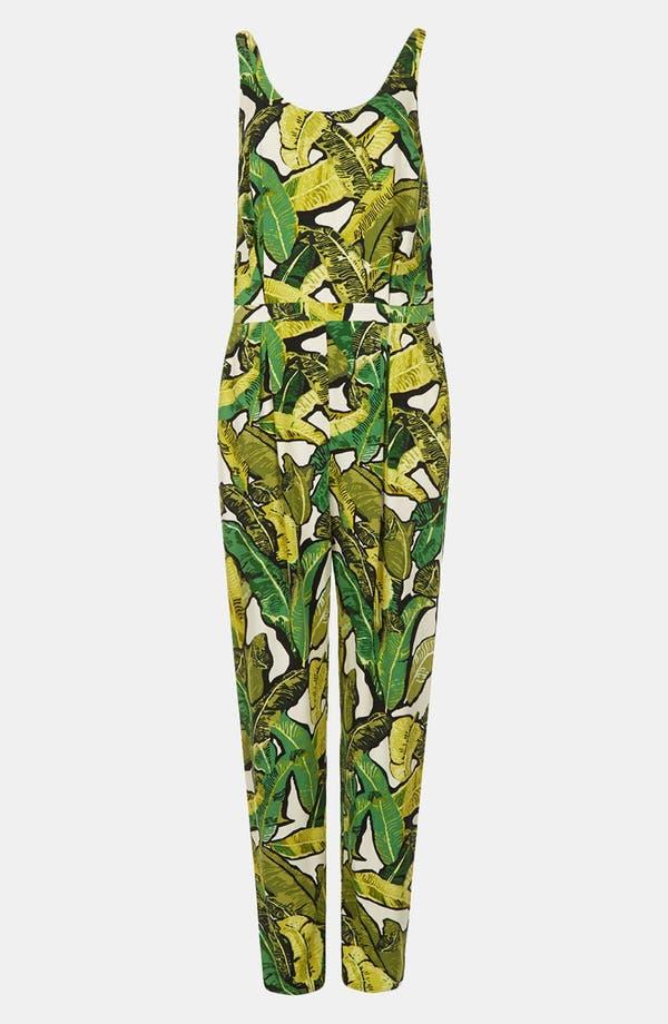 Alternate Image 3  - Topshop Banana Leaf Jumpsuit