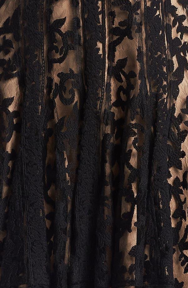 Alternate Image 3  - Tadashi Shoji Embroidered Lace Fit & Flare Dress