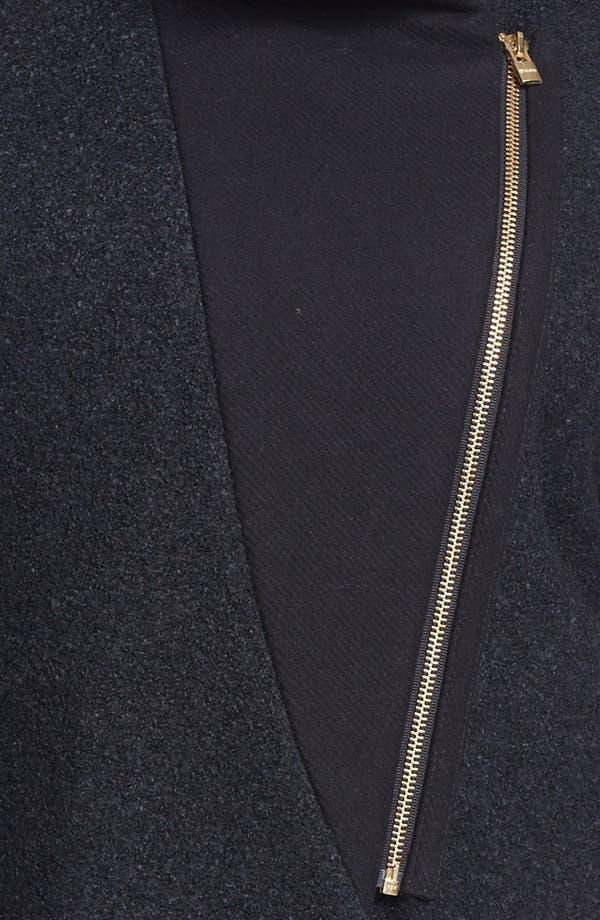 Alternate Image 3  - DKNY Asymmetrical Mixed Media Coat (Plus Size) (Online Only)