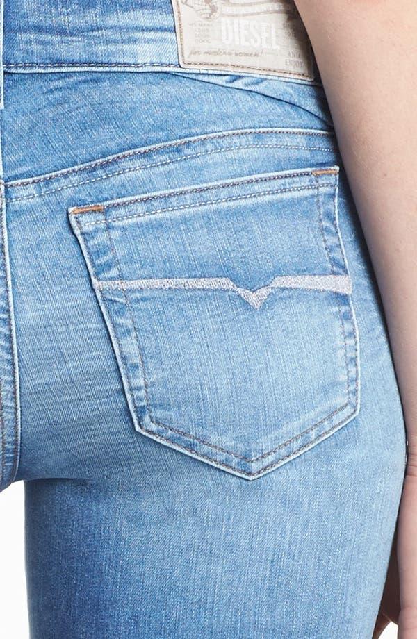 Alternate Image 3  - DIESEL® 'Getlegg' Slim Skinny Jeans (Light Blue)