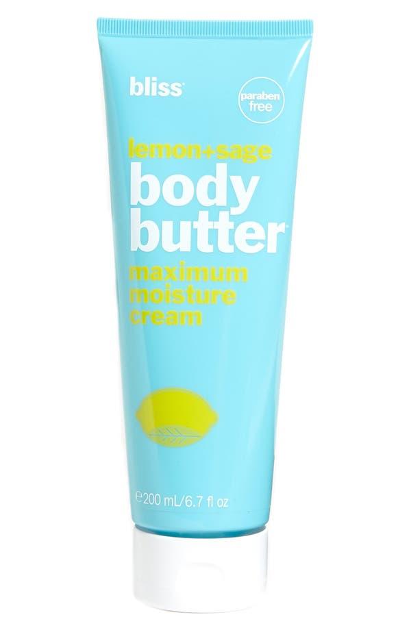 Alternate Image 1 Selected - bliss® Lemon + Sage Body Butter