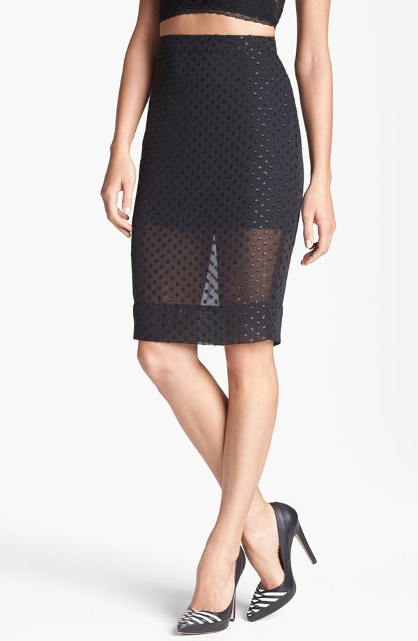 Main Image - Leith Sheer Pencil Skirt