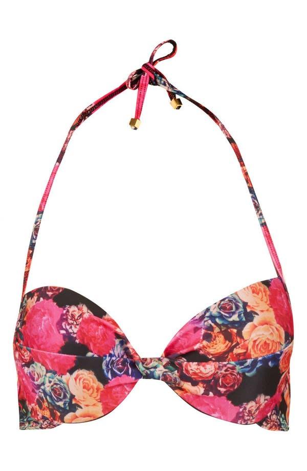 Main Image - Topshop 'Trailing Rose' String Bikini Top