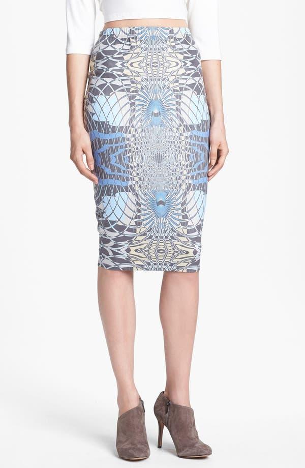 Alternate Image 1 Selected - Leith Print Pencil Skirt