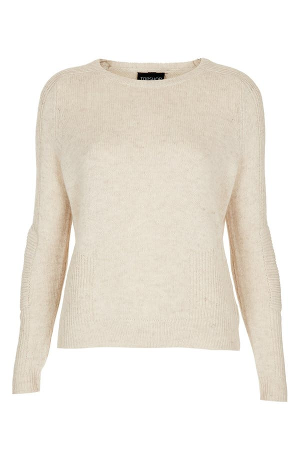 Alternate Image 3  - Topshop Mixed Knit Sweater