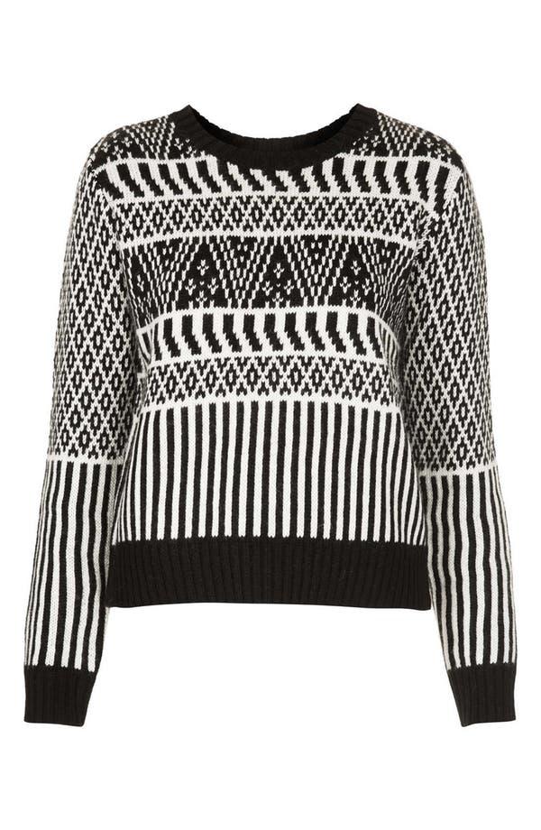 Alternate Image 3  - Topshop Two-Tone Jacquard Sweater