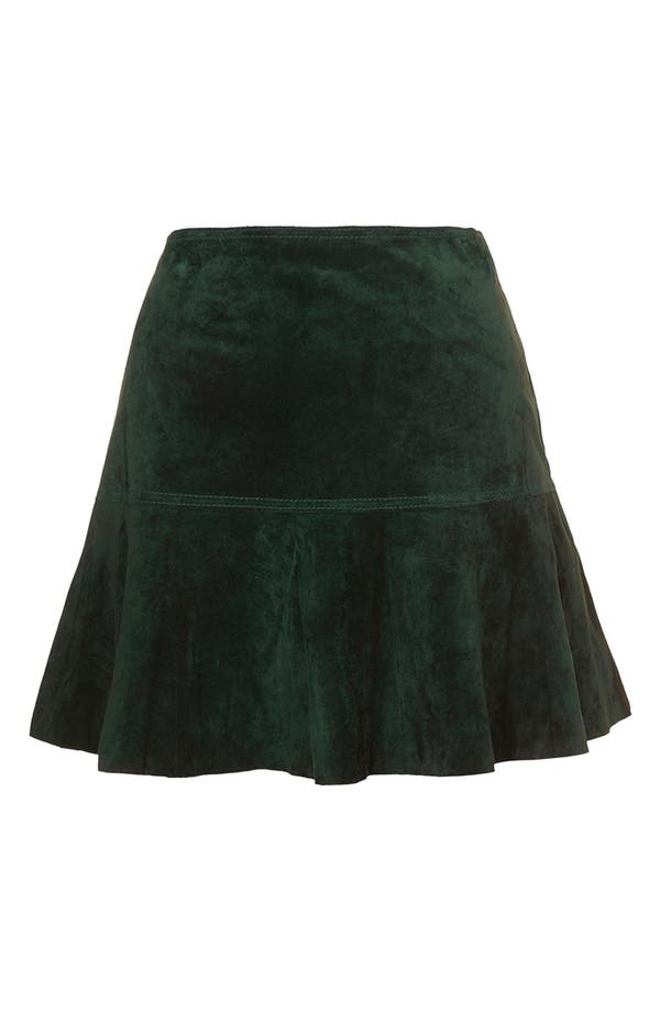 Alternate Image 1 Selected - Topshop Unique Flippy Suede Skirt