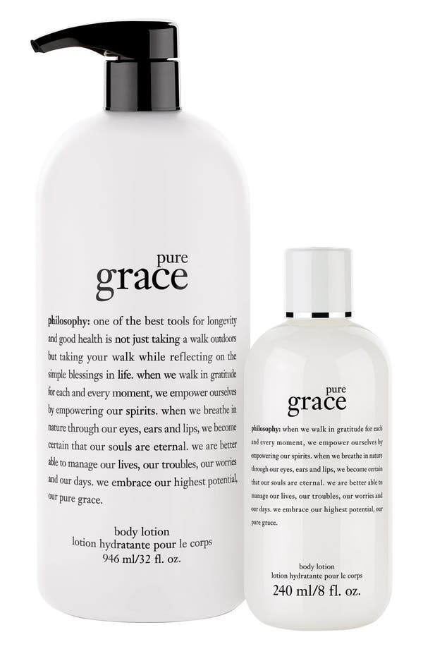 Alternate Image 1 Selected - philosophy 'pure grace' body lotion duo ($94 Value)