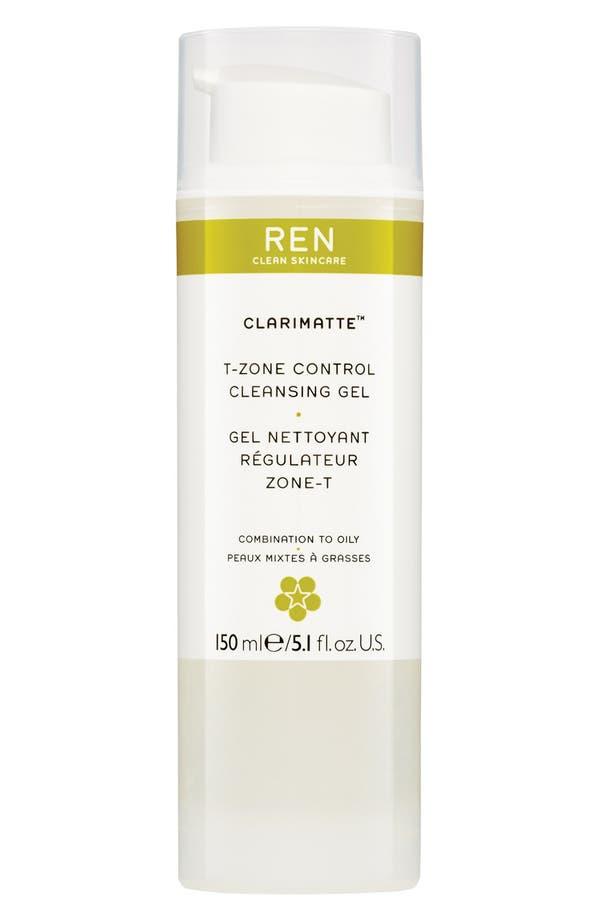 Alternate Image 1 Selected - REN 'Clarimatte™' T-Zone Control Cleansing Gel