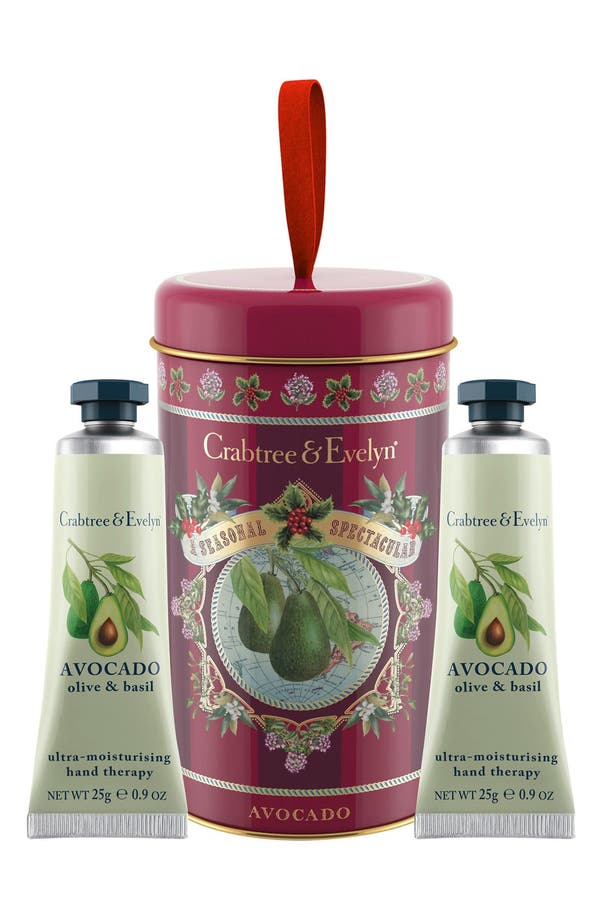 Main Image - Crabtree & Evelyn 'Avocado, Olive & Basil' Ornament Tin