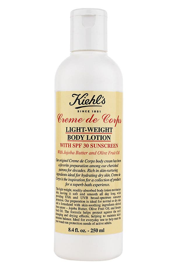Main Image - Kiehl's Since 1851 'Creme de Corps' Light-Weight Body Lotion - SPF 30