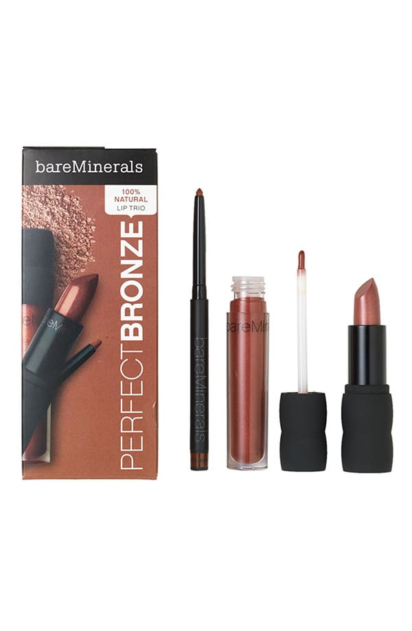 Alternate Image 1 Selected - bareMinerals® 100% Natural Lip Kit (The Perfect Bronze) ($41 Value)