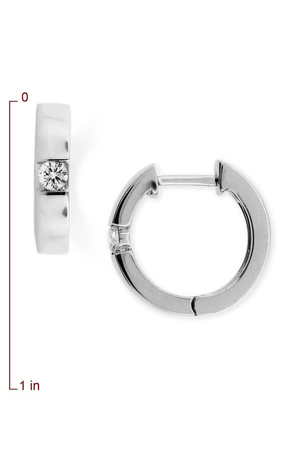 Alternate Image 2  - Bony Levy Bar Set Diamond Hoop Earrings (Nordstrom Exclusive)