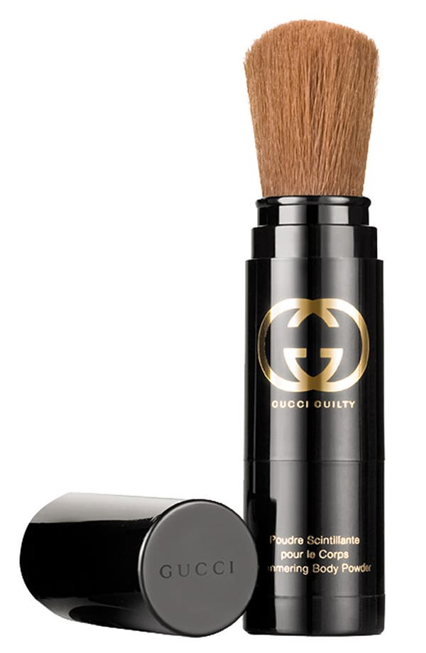 Alternate Image 1 Selected - Gucci 'Guilty' Shimmering Body Powder Brush