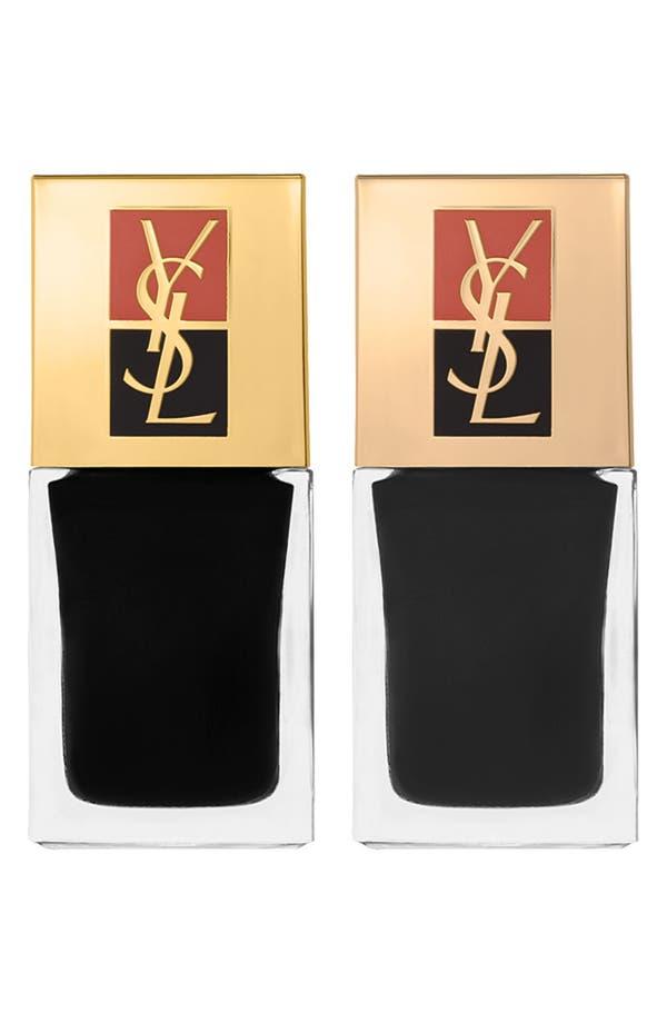Alternate Image 1 Selected - Yves Saint Laurent 'No. 6 Terriblement Noir' Nail Polish Duo