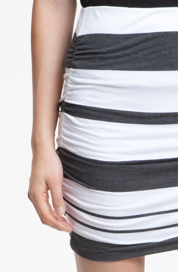 Alternate Image 3  - James Perse Ruched Stripe Miniskirt