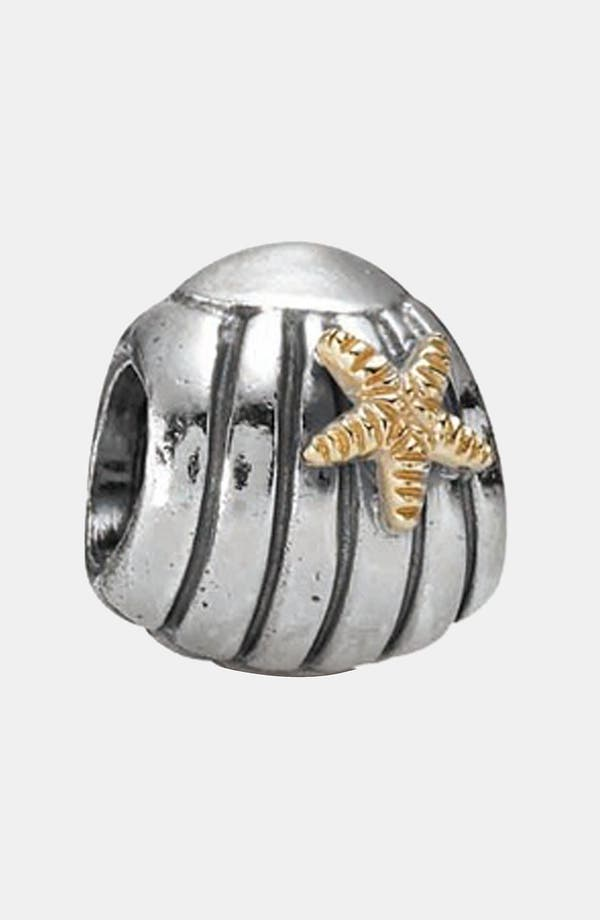 Alternate Image 1 Selected - PANDORA Gold & Silver Seashell Charm