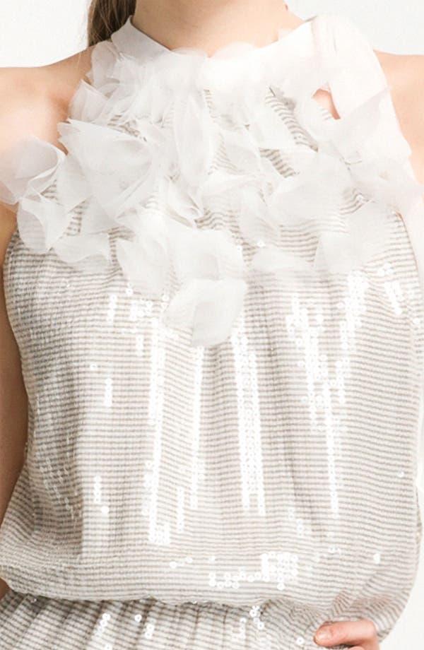Alternate Image 3  - Kathy Hilton Sequin Blouson Halter Dress