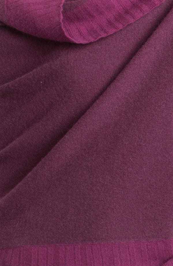 Alternate Image 2  - Nordstrom Collection Pleated Border Cashmere Wrap