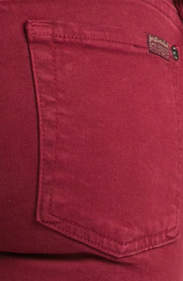 Alternate Image 3  - 7 For All Mankind® 'Slim Illusion' Overdyed Skinny Stretch Jeans (Port)