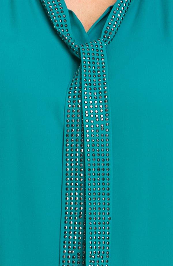 Alternate Image 3  - Bellatrix Studded Tie Front Blouse (Plus)