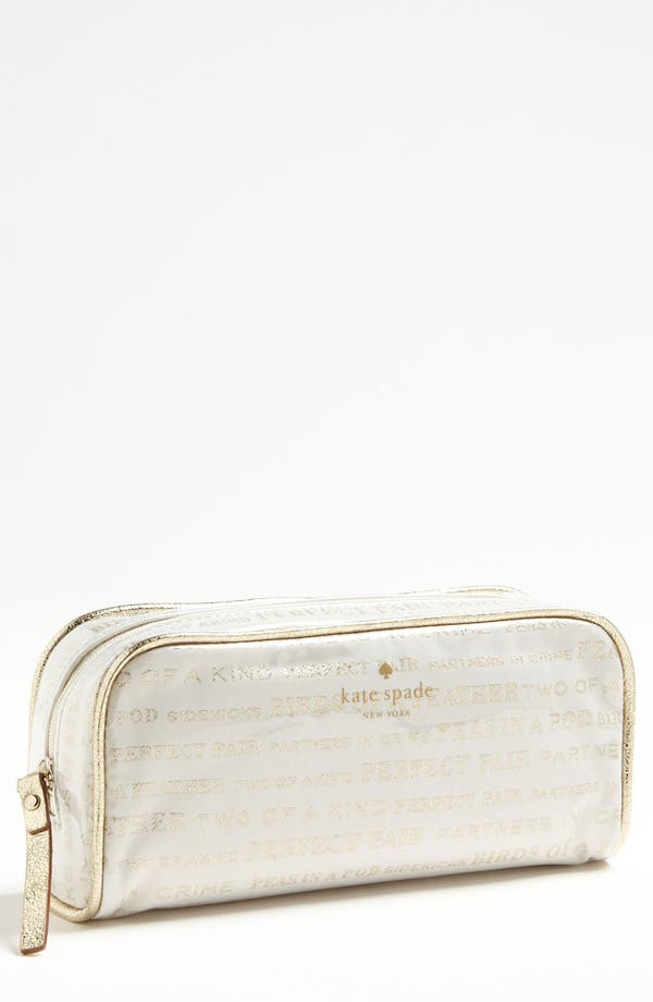 Alternate Image 1 Selected - kate spade new york 'wedding bells - small henrietta' cosmetics case