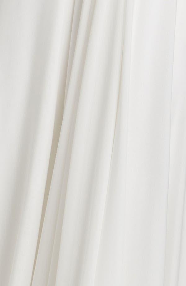 Alternate Image 3  - Nicole Miller Strapless Silk Chiffon Gown