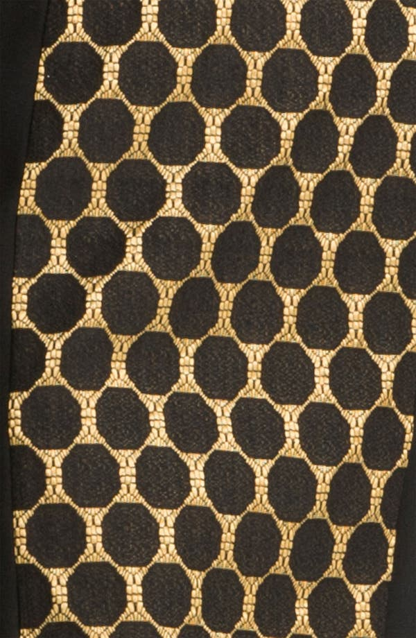 Alternate Image 3  - Donna Ricco Jacquard Panel Ponte Sheath Dress