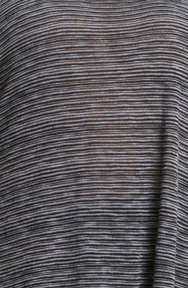 Alternate Image 3  - Allen Allen Sweater Stripe Asymmetric Tee (Plus)