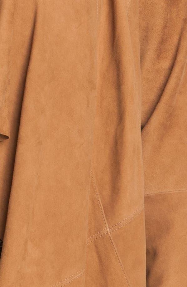 Alternate Image 3  - MICHAEL Michael Kors Drape Front Suede Jacket (Plus)