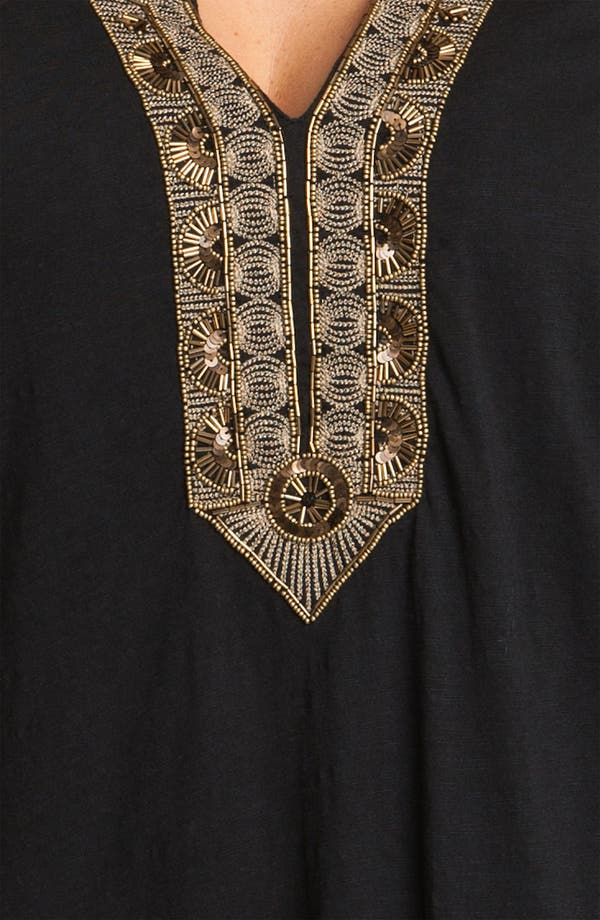 Alternate Image 3  - Lucky Brand 'Jasmine' Beaded Tunic (Plus)