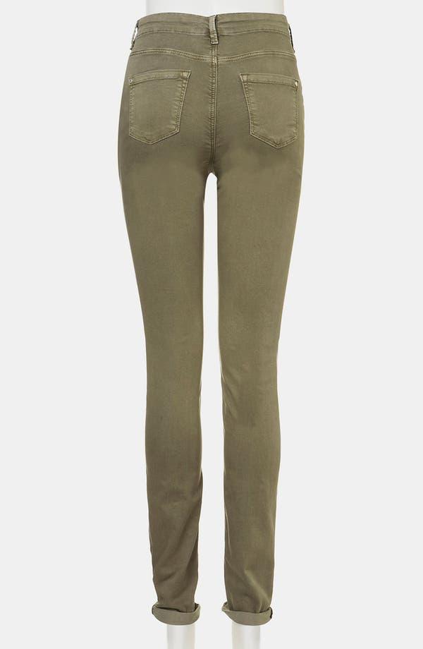Alternate Image 3  - Topshop 'Leigh' Vintage Wash Skinny Maternity Jeans