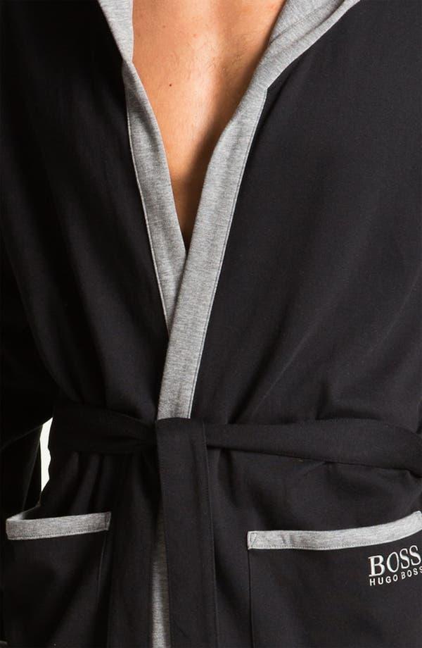 Alternate Image 3  - BOSS Black Hooded Cotton Robe