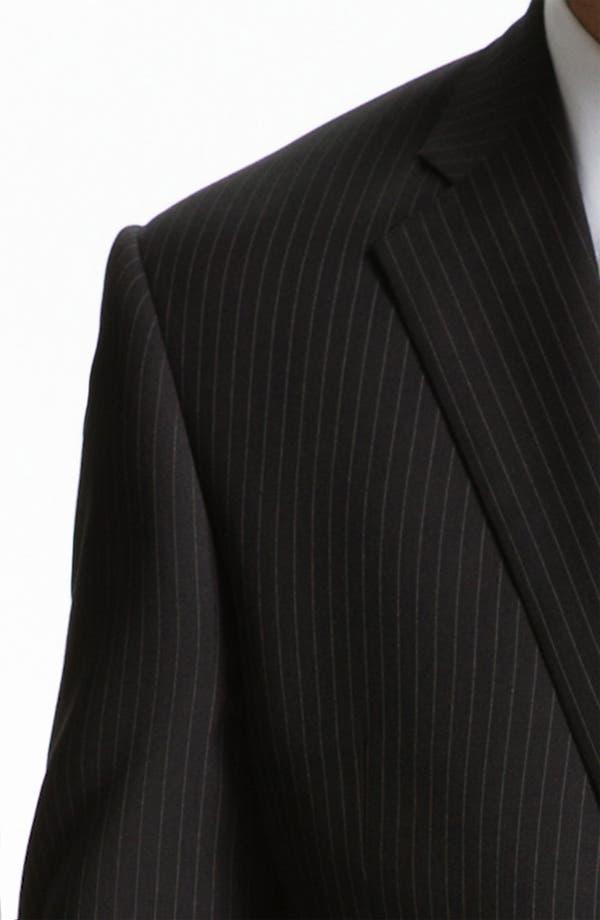 Alternate Image 6  - Armani Collezioni 'Giorgio' Trim Fit Stripe Suit