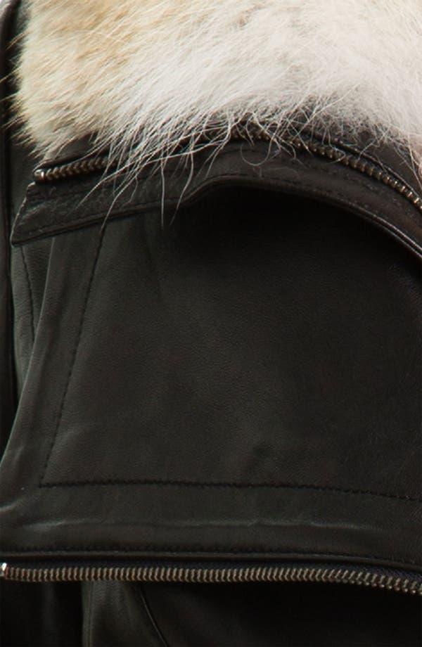 Alternate Image 5  - Mackage 'Jora' Genuine Coyote Fur Collar Leather Jacket with Removable Vest