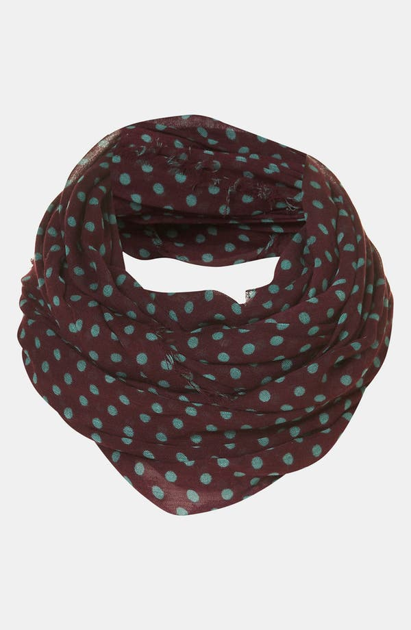 Main Image - Topshop 'Factory Girl' Polka Dot Circle Scarf