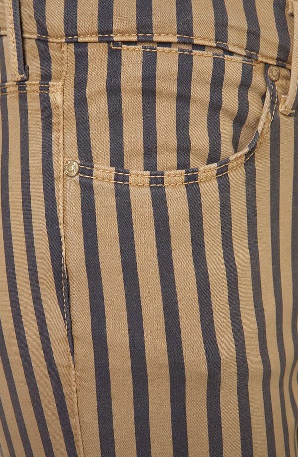 Alternate Image 3  - Topshop Moto 'Leigh' Stripe Skinny Jeans (Navy)