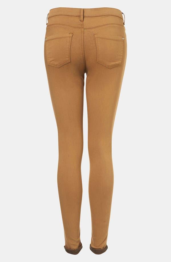 Alternate Image 2  - Topshop Moto 'Leigh' Skinny Jeans (Tobacco)