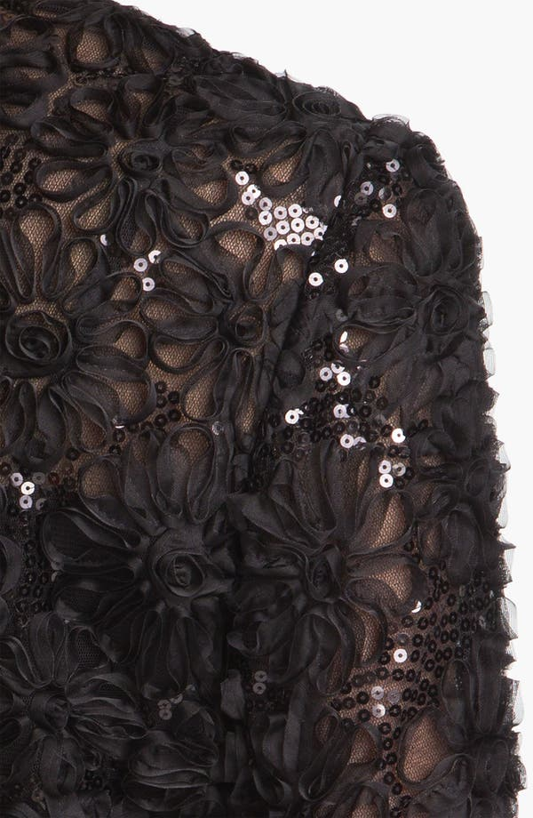 Alternate Image 3  - Adrianna Papell Embroidered Sequin Mesh Bolero