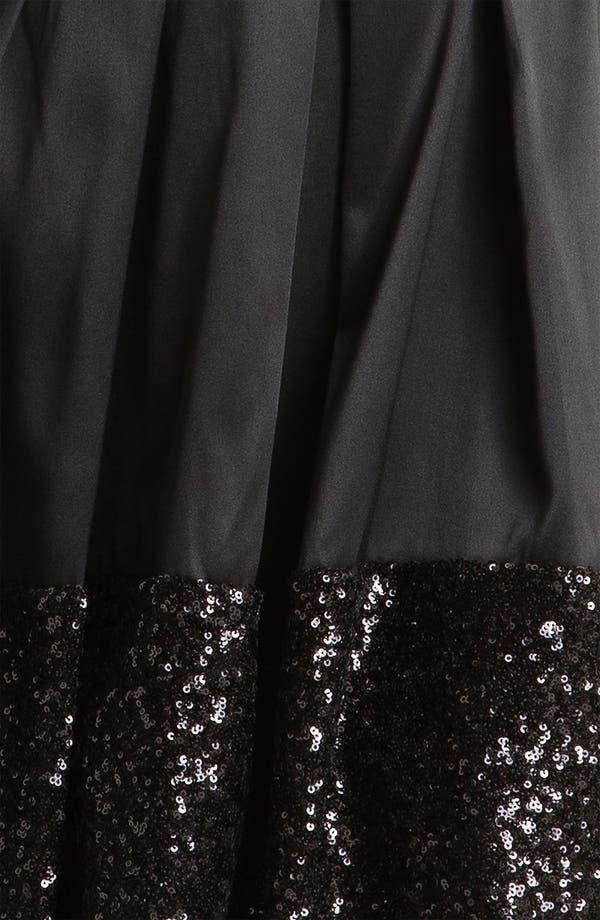Alternate Image 3  - Taylor Dresses Sequin Hem Satin Fit & Flare Dress