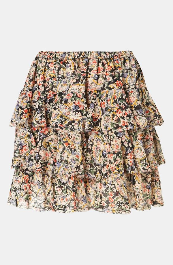 Main Image - Topshop 'Lucy' Paisley Print Miniskirt