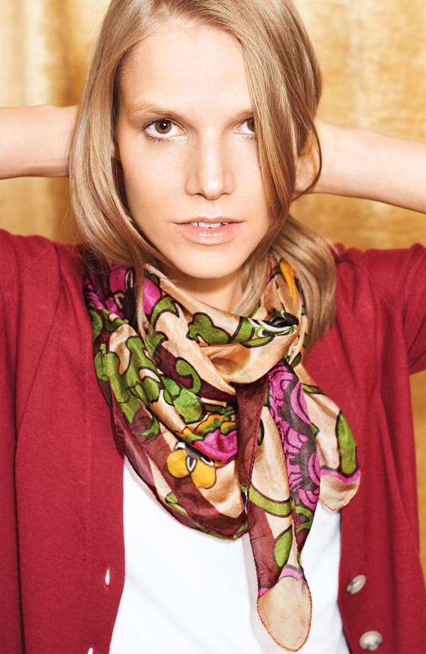 Alternate Image 2  - Janie Besner 'Floral Vine' Silk Scarf