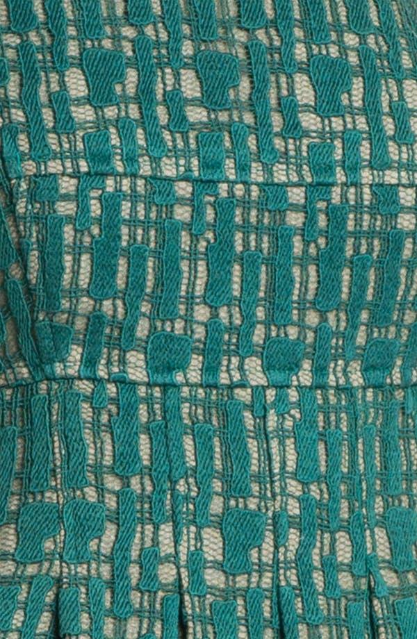 Alternate Image 3  - Lela Rose Lace Overlay Sheath Dress