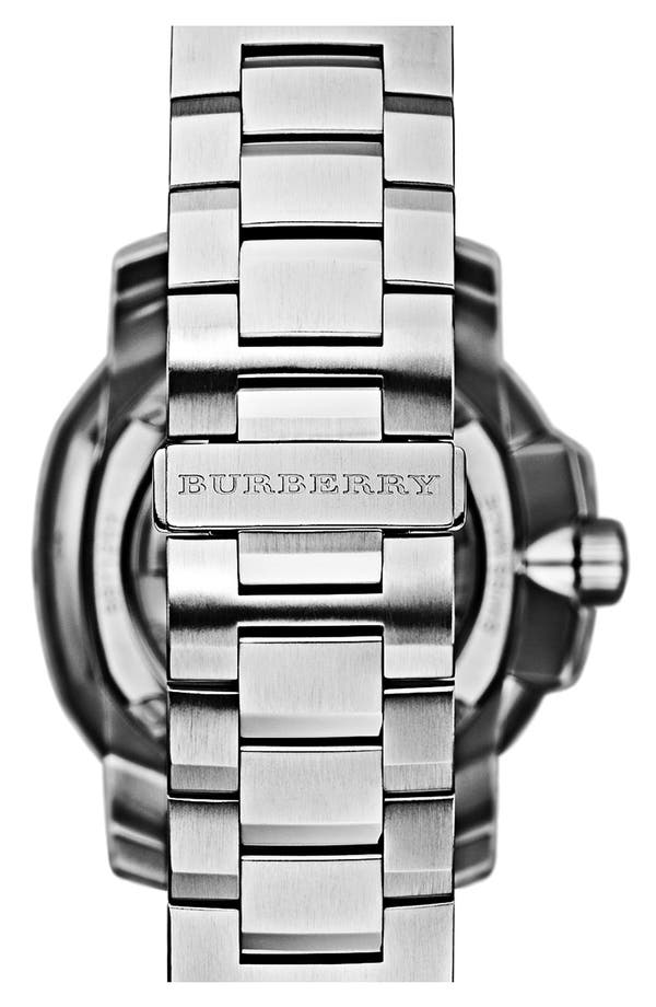 Alternate Image 4  - Burberry The Britain Automatic Bracelet Watch, 43mm