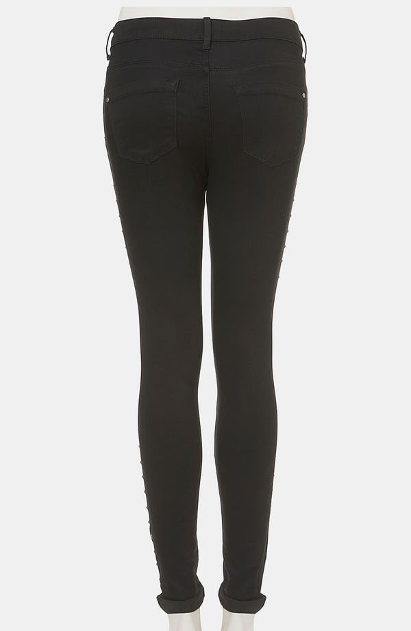 Alternate Image 2  - Topshop Moto 'Leigh' Studded Skinny Jeans